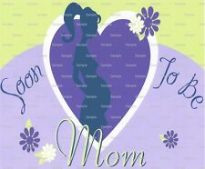 Soon To Be Mom Baby Shower ~ Frosting Sheet Cake Topper ~ Edible Image ~ D2906