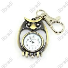 Classical Owl Children Baby Lady Girl Pocket Key Chain Keychain Watch-3