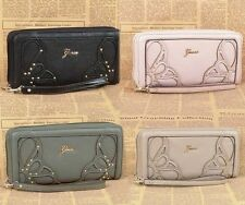 Trixia Flower Embossed Zip Around Women Wallet 4 Colors Multi Purse Mult NWT