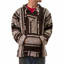 Baja Hoodie~ Original Mexican Drug Rug 100% Recycled Fibers Sports Outdoors