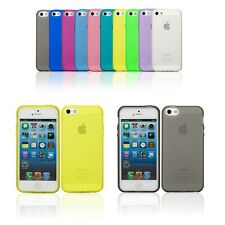 Transparent Soft Skin Back Case Cover Protector For Apple iPhone 5S 5 3G 4G LTE
