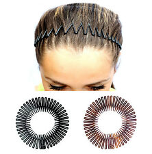 2 X FLEXI COMBS HAIR BAND COMB HEADBAND FLEXI COMBS AVAILABLE IN TORT AND BLACK