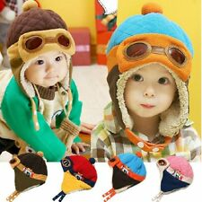 New Baby Kids Toddler Boys Girls Pilot Aviator Winter Warm Cap Ear Flap Soft Hat