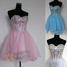 Stock Cute Girl's Party Cocktail Dress Short Evening Prom Homecoming Dress 6-16