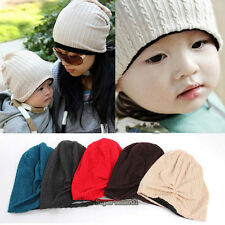Fashion  Boy Girl Baby Toddler Child and Parent Cotton Warm Knit Beanie Hat Cap