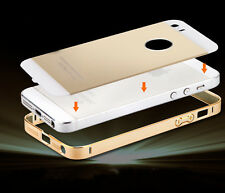 New Ultra Thin Slim Aluminium Metal Bumper Frame + Back Cover Case for iPhone 5s