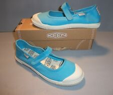 Keen Girl's Maderas MJ Mary Janes Blue White Shoes Canvas SIZES NIB NEW MaryJane
