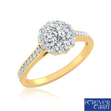 0.64 Ct Certified Real Diamond Solitaire Engagement Ring in 18K Hallmarked Gold