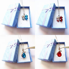 Jewelry Ring Earring Necklace Carton Present Gift Box Case (U.S. Fast Shipping)