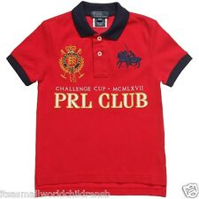 Boys Dual Match POLO SHIRT - RALPH LAUREN 7/8 9/10 11/12 13/14Y blue or red BNWT