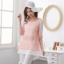 Long Sleeves Maternity Breastfeeding Clothes Autumn Nursing Vest with shirt top