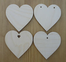 Wood love hearts for wedding wish tree decorations gift tags celebrations craft