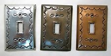 Mexican Tin Single Toggle Switch Plate Cover