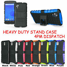 TOUGH HEAVY DUTY SHOCK PROOF STAND HARD CASE COVER FOR PHONES + 2 MINI STYLUS