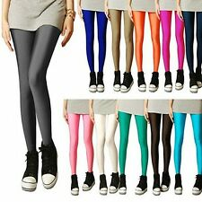 Neon Candy shiny Bright Fluorescent Glow Stretch Leggings Pants S,M,L,XL