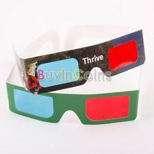2 10 30 Pairs Home DVD Movie TV Red Blue Cyan 3D Paper Glasses