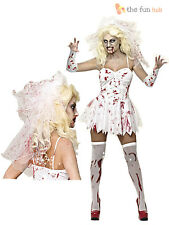 Size 8 -20 Ladies Sexy Zombie Corpse Bride Womens Halloween Fancy Dress Costume