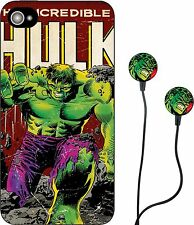 MARVEL COMICS HULK IRON MAN HEADPHONES AND IPHONE 5 CASE COVER IPAD IPOD RETRO