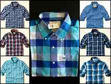 NEW NWT HOLLISTER BY ABERCROMBIE MEN'S PLAID CHECKED CASUAL SHIRT BUTTON DOWN