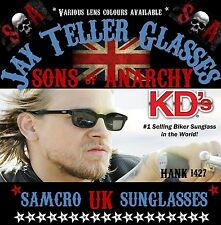 JAX TELLER SUNGLASSES*Original KD's*SONS*Biker Glasses-Choice*OF*Lenses*ANARCHY*