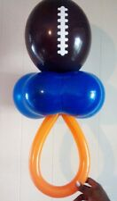 "16"" Geo Blossom Flower Shape Football Balloon Pacifier NFL Boy Baby Shower Theme"