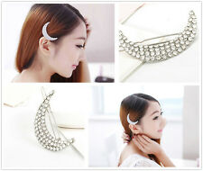 Drill with diamond hairpin hair hairpin edge bang clip to the moon