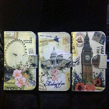 The Landon Eyes Big Ben White House PU leather Cover Case For Many Phones