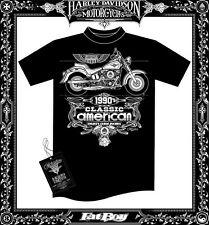 Harley Davidson 1990's motorcycle T shirt unique silkscreen design