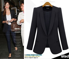 Celebrity Style Women Elegant Career Casual Slimline Suit Blazer Jacket