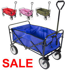Folding Collapsible Utility Wagon Cart Shopping Sports Garden Beach Four Colors