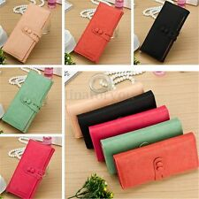 Retro Women Lady Long PU Leather Card Case Wallet Clutch Checkbook Purse Handbag