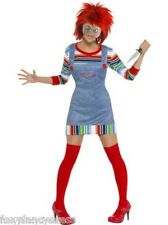 Official Chucky Ladies Child's Play 2 Horror Halloween Fancy Dress All Sizes.