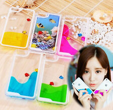 Cute Free Fishes Dynamic Liquid Transparent Hard Case Cover F Iphone 4 5 6/Plus