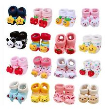 Cute Newborn Baby Unisex Indoor Anti-slip Warm Socks 3D Cartoon Shoes Boots 0-6M