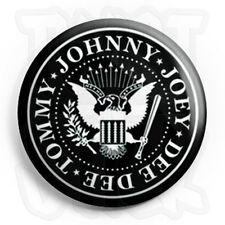 The Ramones - Crest - Button Badge - 25mm Punk Badges with Fridge Magnet Option