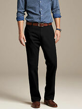 Brand NEW Banana Republic Gavin-Fit Straight Chino Pants Color Black