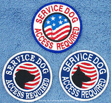1 SERVICE DOG ACCESS REQUIRED PATCH 3 INCH FLAGS Danny & LuAnns Embroidery