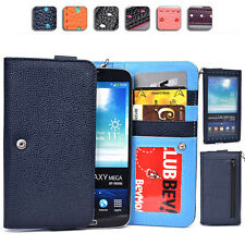 "Ladies Touch Responsive Wrist-let Wallet Case Clutch XL|B fits 5.8-6.3"" Phone"