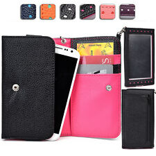 "Ladies Touch Responsive Wrist-let Wallet Case Clutch ML|F fits 5.0"" Cell Phone"