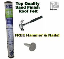 Roof Felt - Sand Finish - FREE HAMMER & NAILS - Free Delivery!