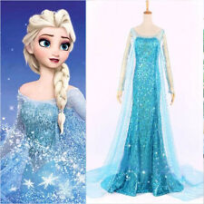 2014 Frozen Elsa Queen Sexy Adult Women Evening Party Dress Costume Elsa Dresses