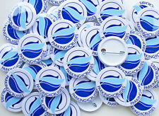 38mm Pin Badges Medium Size, Custom Made Design or Printed with your logo, text