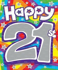 Happy 21st Birthday ~ Frosting Sheet Cake Topper ~ Edible Image ~ D5969