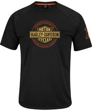 Harley-Davidson Mens Performance Stay-Dry Black Short Sleeve Synthetic T-Shirt
