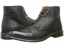 Men's Frye Boots Jack Cap Toe Lace Up Boot Black Leather 87893 BLK