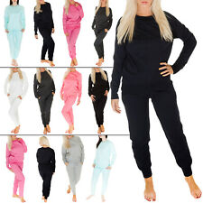 New Womens Ladies Plain Gym Sweatshirt Tracksuit Sport Jumper Top Size 8 10 12 S
