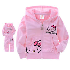 Hello Kitty Girls Cotton  Long Sleeve Shirt+Pants Cartoon Spring Fall Size 2T- 6