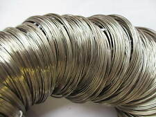 100 - 500 Coils 55mm - 60mm Bracelets Earring Memory Wire Silver Plated
