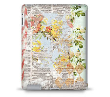 Grunged Florals on Blue Tablet Hard Shell Case for iPad, Kindle, Samsung Galax..