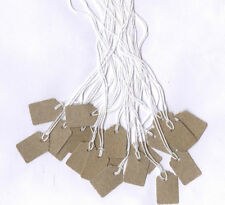 Extra Tiny Manilla Scalloped jewellery/price labels/ tags
